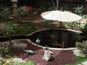 artificial backyard pond